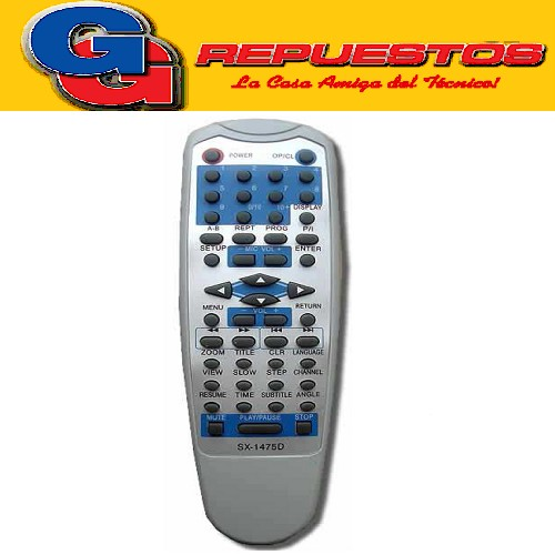 CONTROL REMOTO DVD PREMIER AZUL (2966) SX1475D SX-1475D