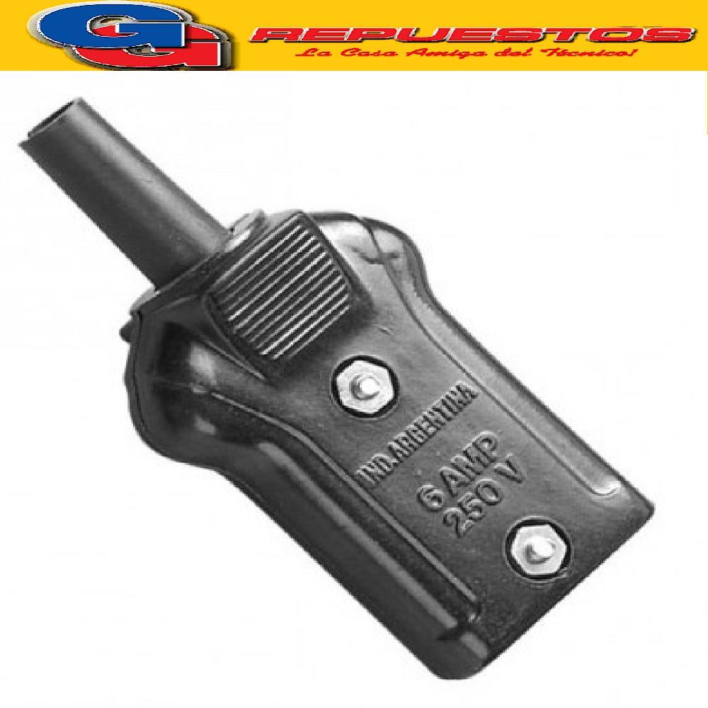 FICHA BAKELITA CALEFON CONTACTO DE BRONCE