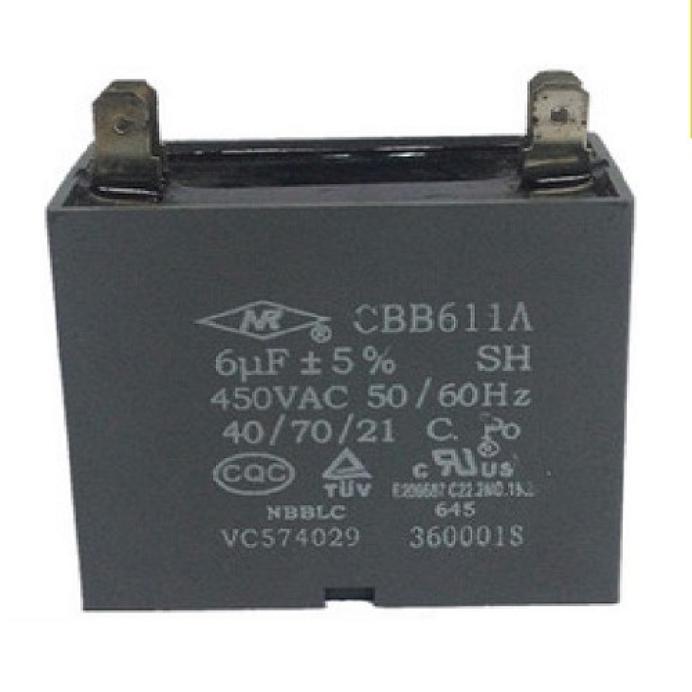 CAPACITOR 6uF X 450 V CUADRADO C/PALA CBB61(6X450)  ROHS