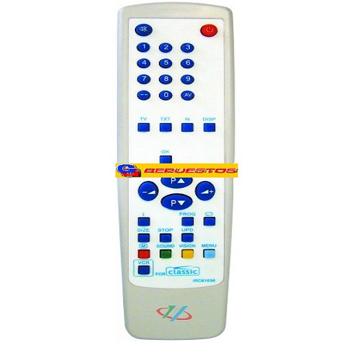 CONTROL REMOTO TV CLASSIC (2474)