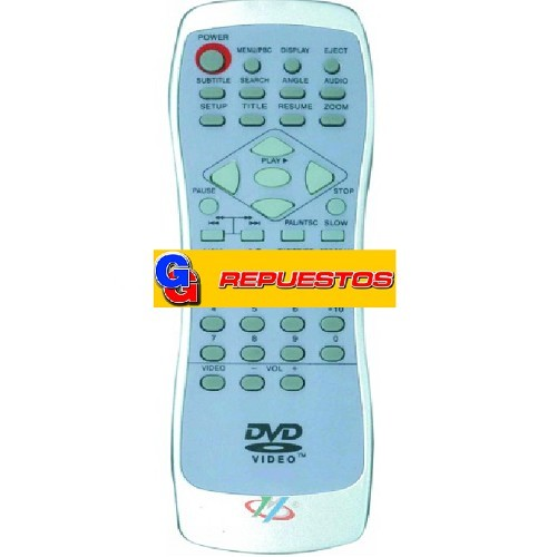 CONTROL REMOTO DVD PANORAMIC (3112)