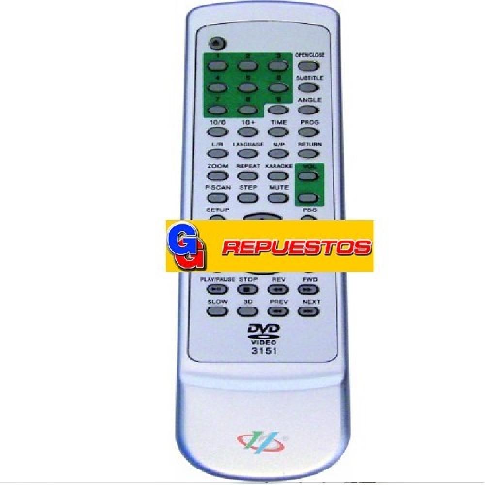 CONTROL REMOTO DVD VARIOS (3151)