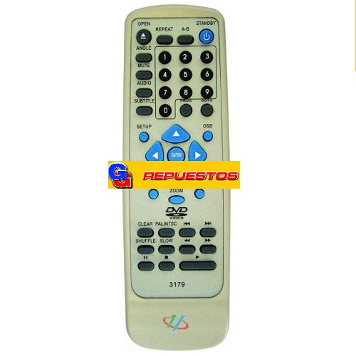 CONTROL REMOTO DVD TOP HOUSE (3179)