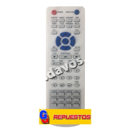 CONTROL REMOTO DVD WINS8300DIVX (3183)