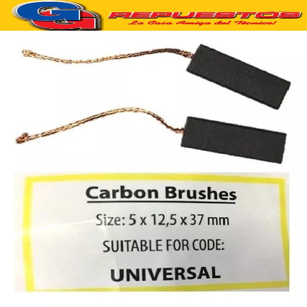 CARBON 5.00 X12.50 X33.00 PARA MOTOR LAVARROPAS AUTOMATICO  ITALIANO