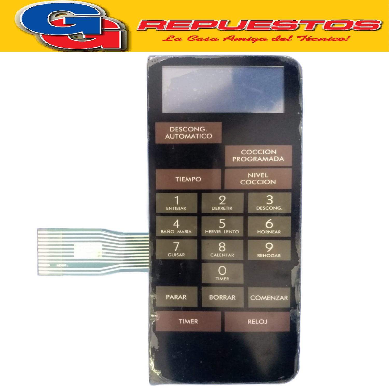 TECLADO MICROONDAS BGH 13300 (PANEL) MD008