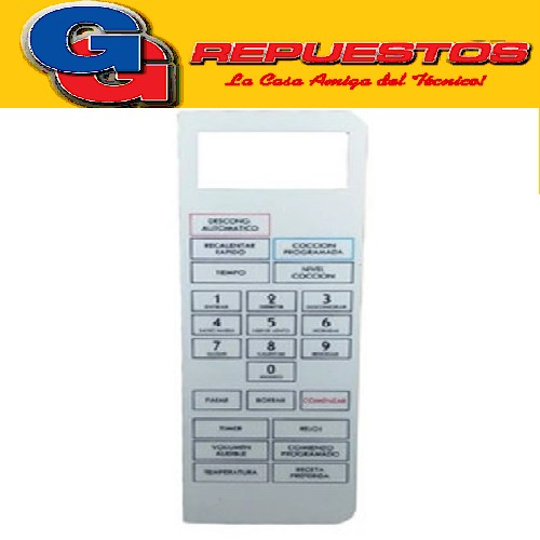 TECLADO MICROONDAS BGH 16650 (PANEL) MD009