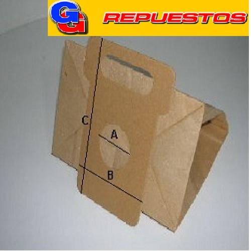 BOLSA ASPIRADORA DE PAPEL MOULINEX POWERSTAR (x 5 unidades) NACIONAL A:4.5CM B:10.3CM C:16.7