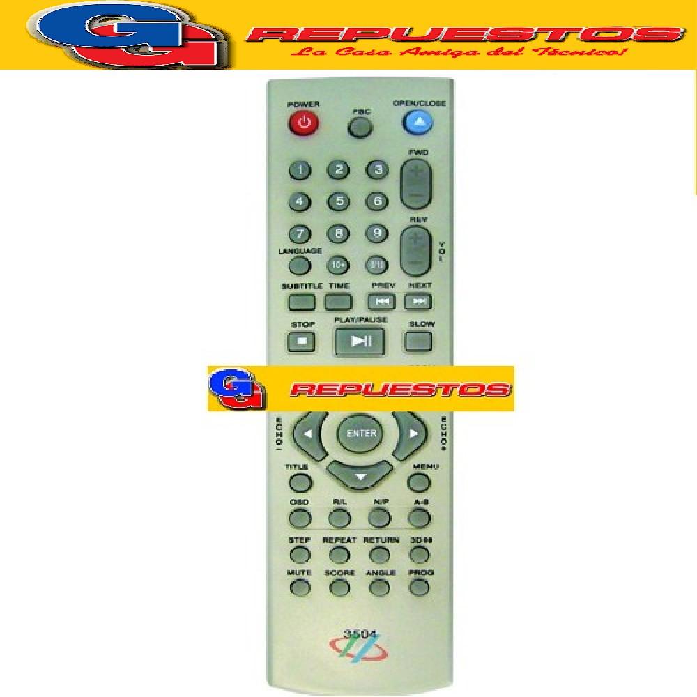 CONTROL REMOTO DVD ROADSTAR (3504)