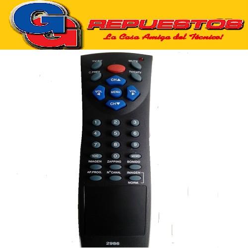 CONTROL REMOTO TV RCA (2986) AZUL