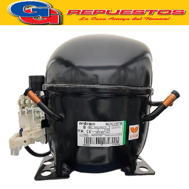 MOTOCOMPRESOR EMBRACO ASPERA 1/2+ HP R404A LBP- NEK2150GK COMERCIAL