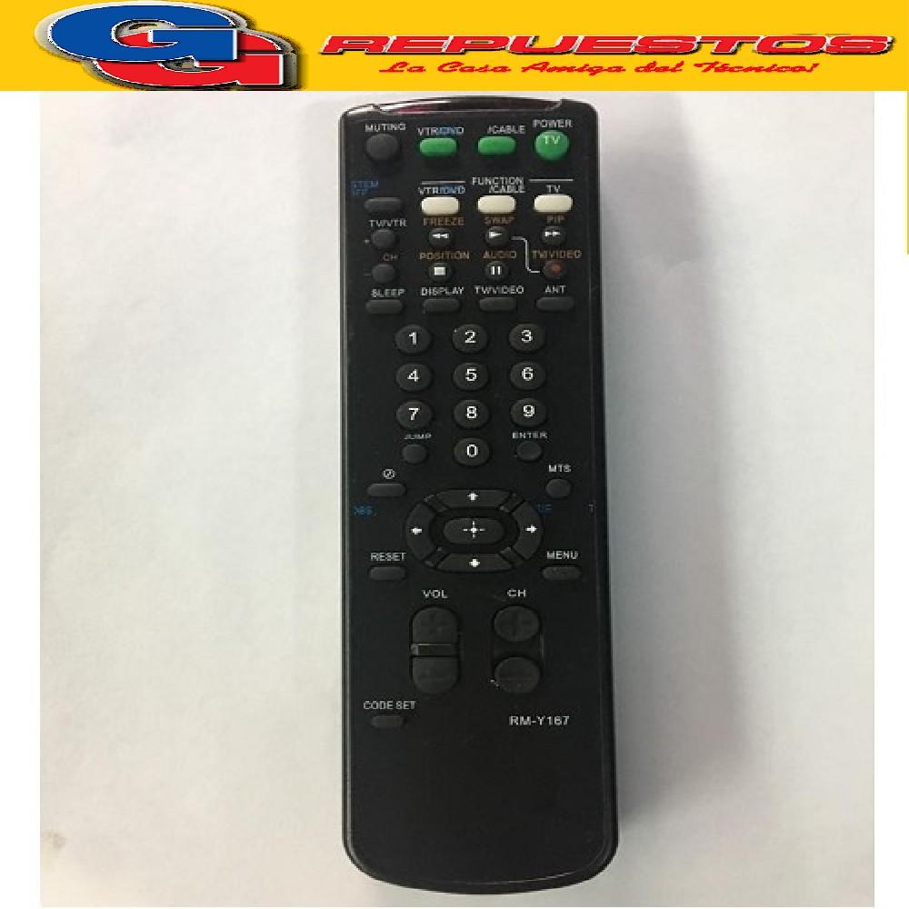 CONTROL REMOTO TV RMY167 SIMILAR A SONY  (2786)