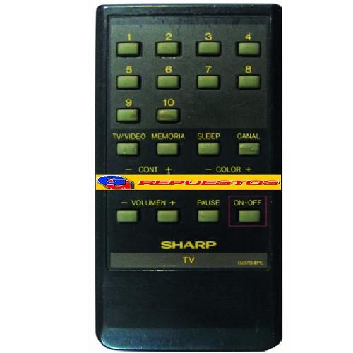 CONTROL REMOTO TV G0784PE SHARP (2868) 10 CANALES