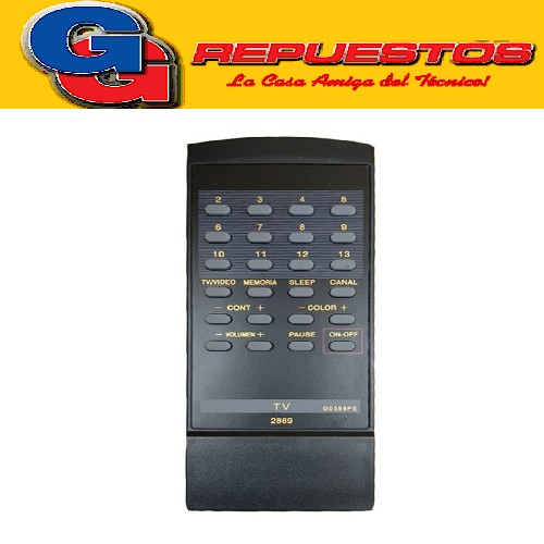 CONTROL REMOTO TV G0599PE PHILCO SHARP (2869) 13 CANALES