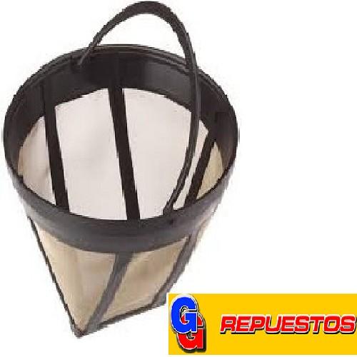 FILTRO CAFETERA PERMANENTE MALLA PLASTICA Nº4 D.2,75 DIAMETRO SUPERIOR 12 CM , ALTO 10 CM