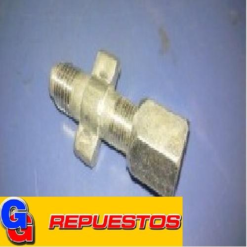 ADAPTADOR Valvula para lata 1Kg.MP39/R134/HCFC141B GARRAFA DESCARTABLE R22-R134-MO49- YH12 ROSCA 1/4 MACHOA X 1/4 HEMBRA