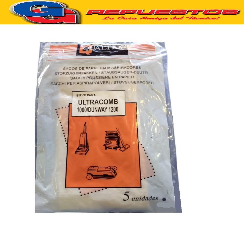 BOLSA ASPIRADORA DE PAPEL DAEWO ULTRACOMB 1000 ( x5) 10cmX11,5cm diam 4,5cm