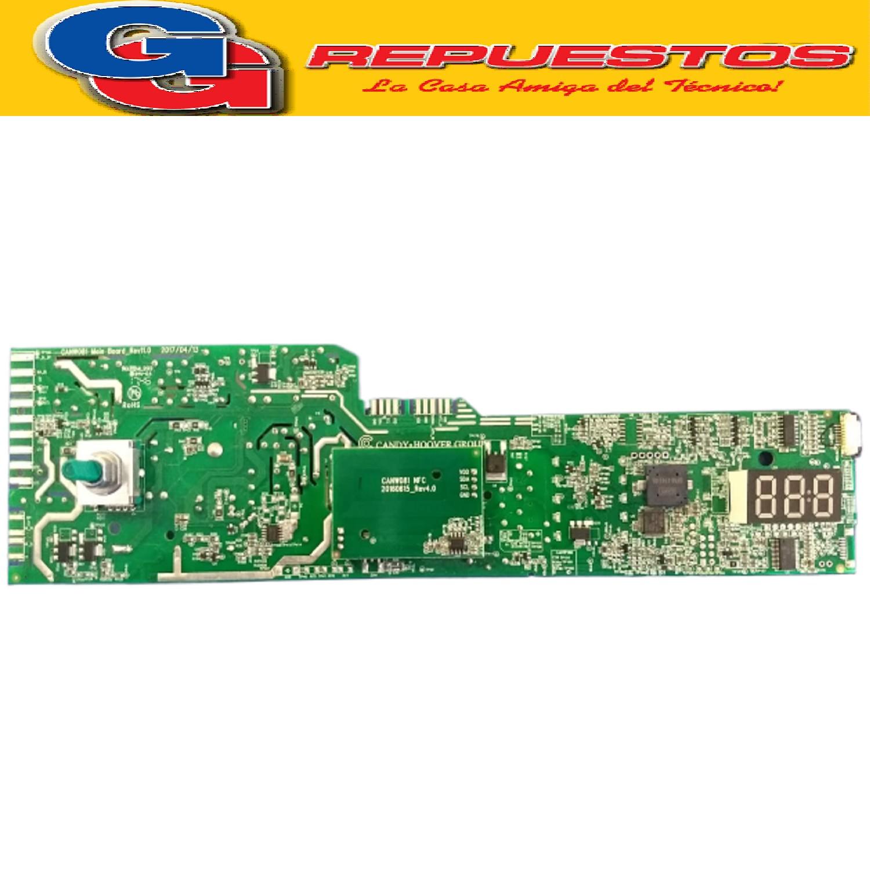 PLACA ELECTRONICA LAVARROPAS CANDY GVS107TC312 GRAND OVITA 35cm diam(PLAQUETA P/DISPLAY DIGITAL ORIGINAL.VISOR TOUCH) UNIPLACA SETEO C/CELULAR LAVARROPA FRONT.56 L - 1000 SILITECH  Cod.Origen: 49041625 (CANDY GIAS) serie 31007820 41045072 (CANDY GIAS) Tarjeta Electronica NFC No Programada / Reemplazada 43020392 (CANDY GIAS) Tarjeta Electronica NFC No Programada /Reemplazo Produttore: