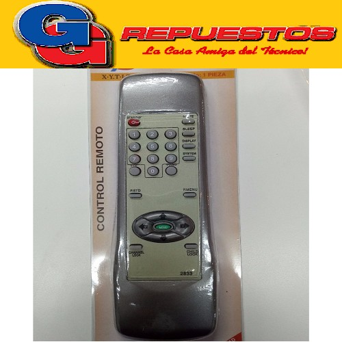 CONTROL REMOTO TV GENERAL ELECTRIC  SHARP (2833)