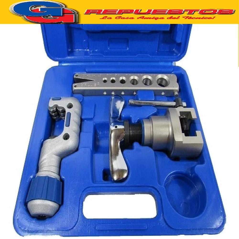 Kit VALUE  VFT808IS-cortadora de caño+pestañadora.1/4-3/4 en caja.
