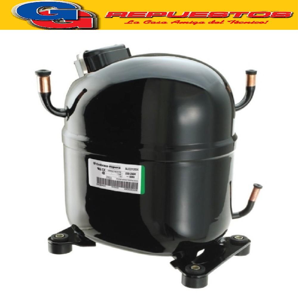 MOTOCOMPRESOR EMBRACO ASPERA 1 1/4 HP R134A HBP NJ6226Z COMERCIAL