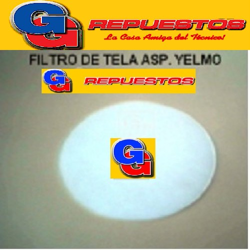 FILTRO MOTOR ASPIRADORA YELMO REDONDO BLANCO DE TELA DIAMETRO 15.5 CM