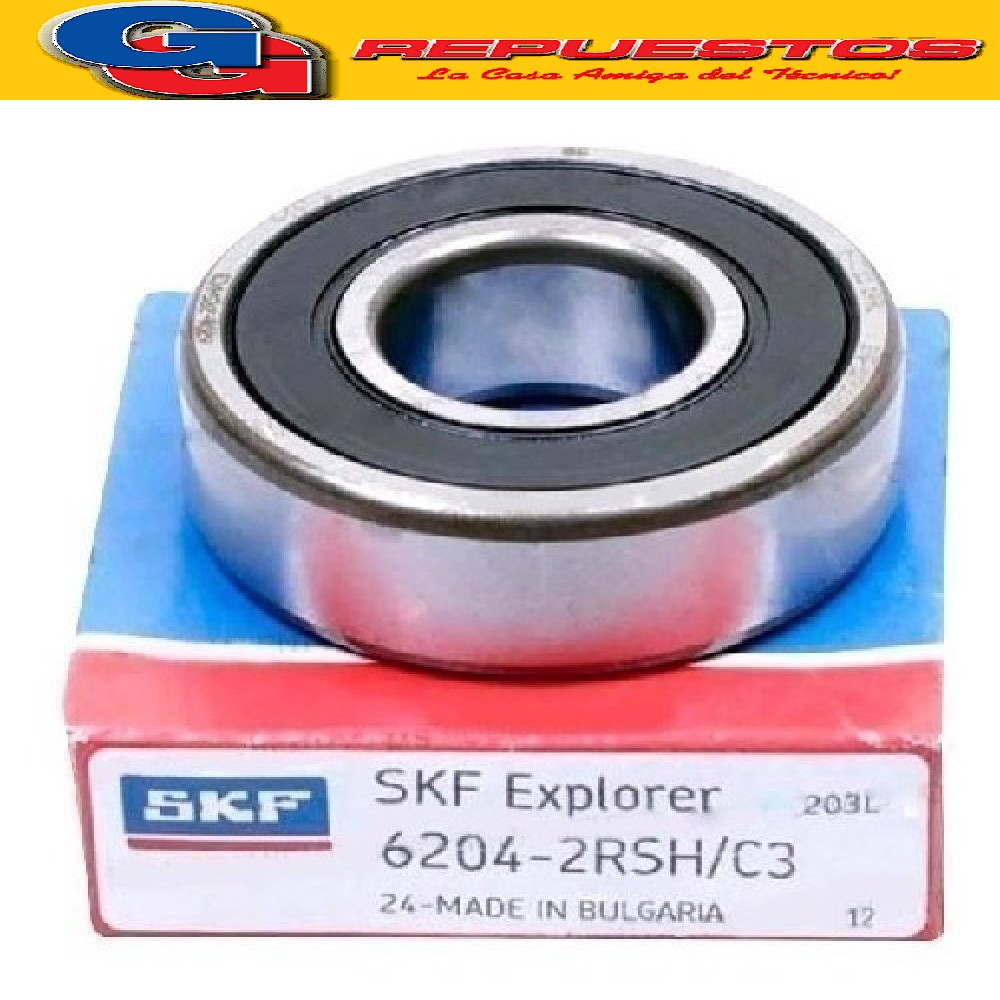 RULEMAN 6204 2RS 20 mm x 47 mm x 14 mm SKF
