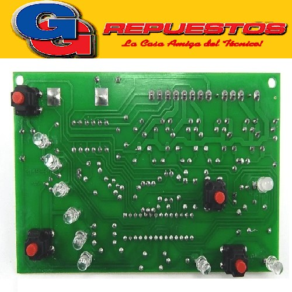 PLAQUETA LAVARROPAS DREAN CONCEPT ELECTRONIC 156 (LED CON PINES) BOTONES ALTOS TIPO RP