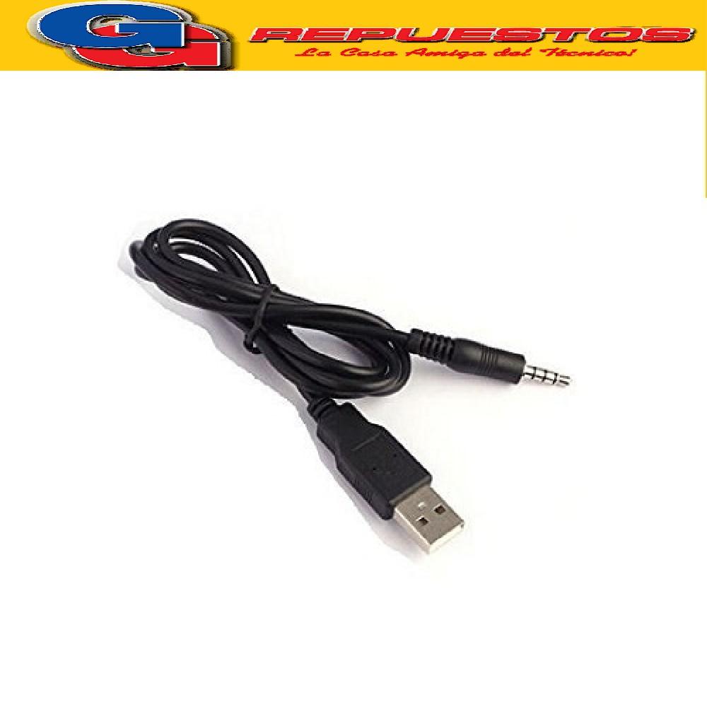 CABLE AUXILIAR ESTEREO PLUG/JACK 3.5mm A USB - 1.5MTS