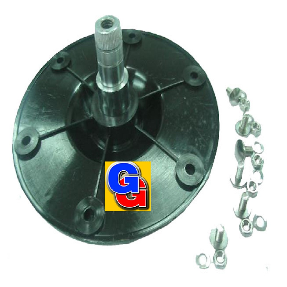 EJE PARA LAVARROPAS CANDY CTS41-CTS62/CTT -6203 6 AGUJEROS C/SUP.(L./ POLEA) (Nac.) p/reten RADIAL