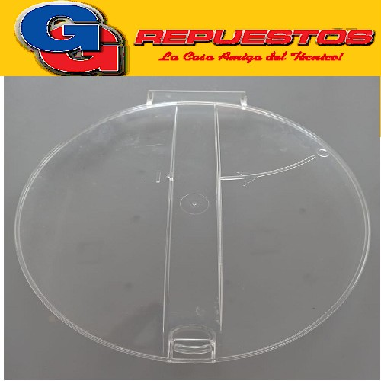 TAPA SECARROPAS CODINI TRANSPARENTE  Y BLANCA M/V PLASTIACERO PL42-PL52-PL62 (4 2kg -5 2kg-6 2kg.) (Visor con boton de agarre)  Cod.Origen:00333 (CODINI ARG.) DIAMETRO 24.5 CM