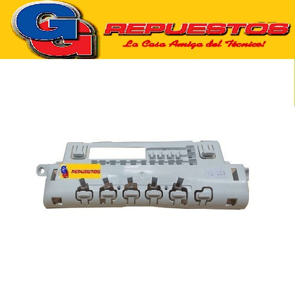 BOTONERA ESTETICA PLASTICA LAVASECARROPA LONGVIE LS8012  BOTONERA ESTETICA PLAS.LAVASECA LON.LS8012 -LS8012P Lavasecarropas Elect.CROMO (ORIG) 41040832 (LONGVIE) LS DG - BOTONERA 41040832/C (LONGVIE) LS8012P DG - BOTONERA CROMO