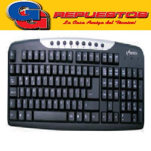 TECLADO MULTIMEDIA ESPAÑOL BLACK/SILVER PC COMPU