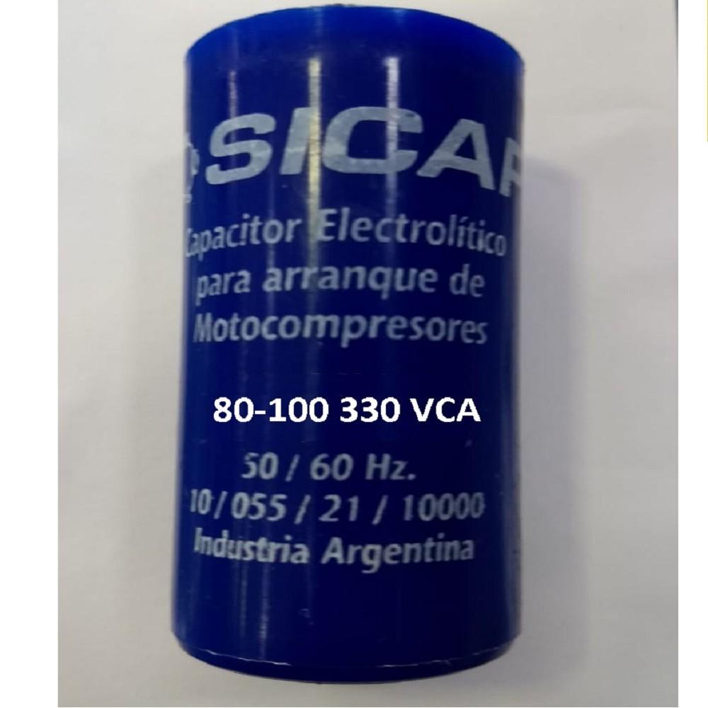 CAPACITOR ARRANQUE SICAP 80-100 330 VCA