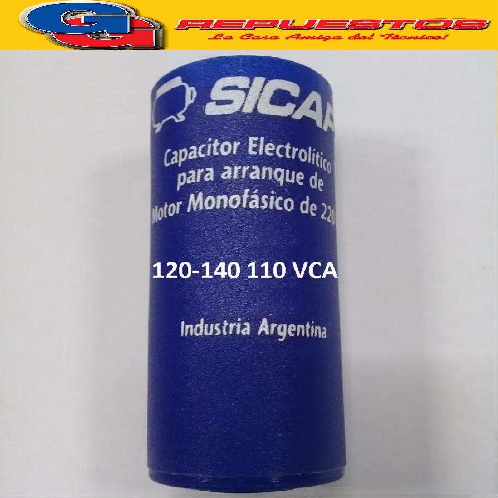 CAPACITOR ARRANQUE SICAP 120-140 110 VCA