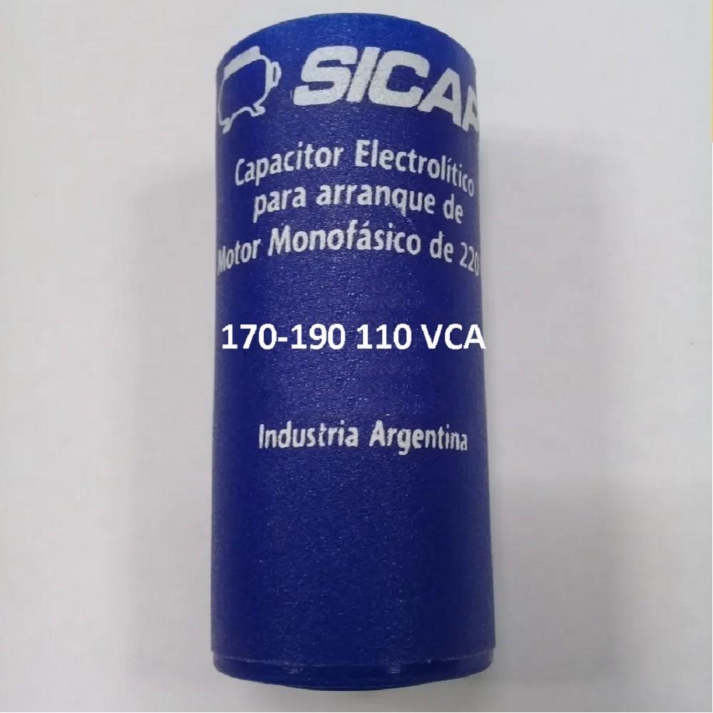 CAPACITOR ARRANQUE SICAP 170-190 110 VCA