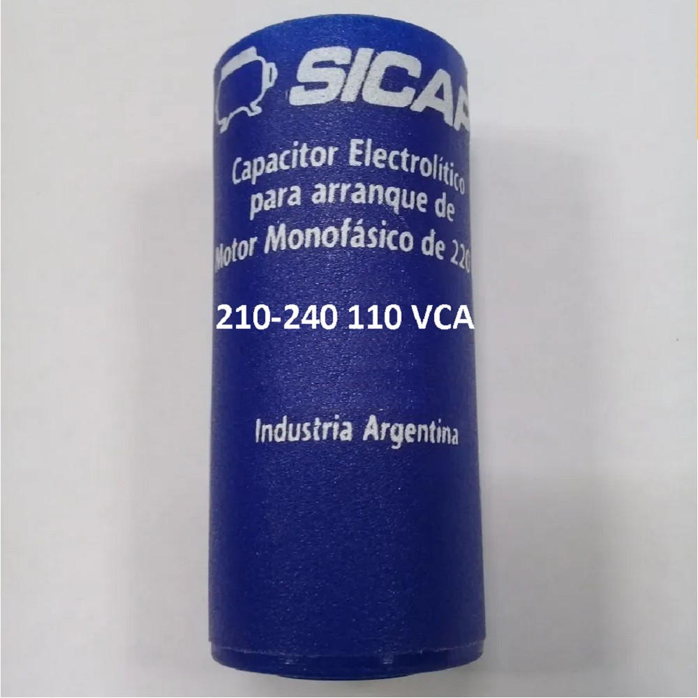 CAPACITOR ARRANQUE SICAP 210-240 110 VCA