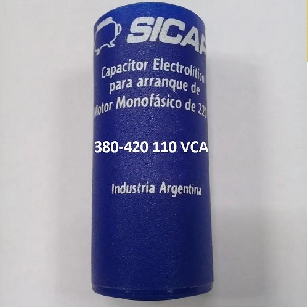 CAPACITOR ARRANQUE SICAP 380-420 110 VCA