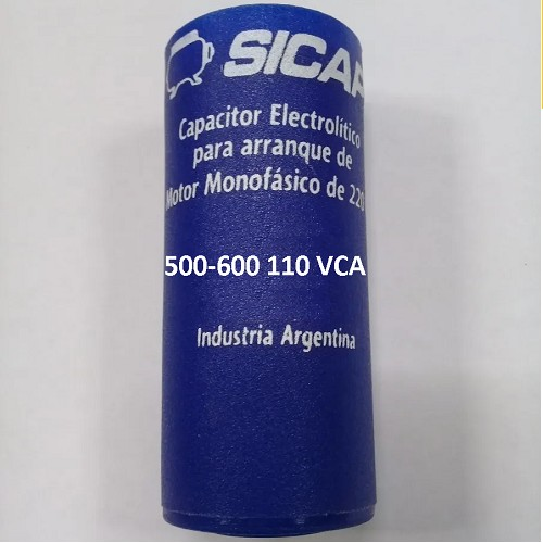 CAPACITOR ARRANQUE SICAP 500-600 110 VCA