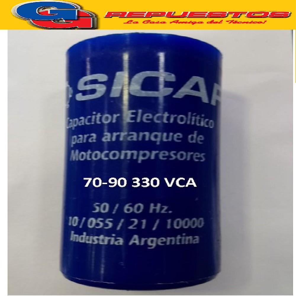 CAPACITOR ARRANQUE SICAP 70-90 330 VCA