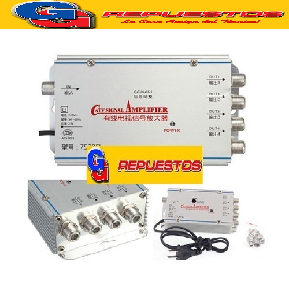 AMPLIFICADOR DE SEÑAL CATV 4 SALIDAS 36DB 220V 8630MA4