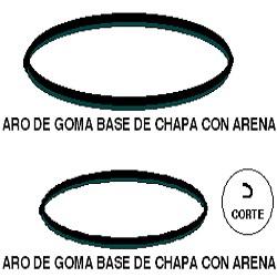 ARO GOMA BASE GRANDE 45CM CON ARENA VENTILADOR 20