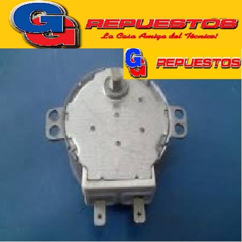 MOTOR GIRAPLATOS MICROONDAS 220V 5/6RPM GAL-5-240-TD  DIAMTRO DEL MOTOR 49 mm ALTO 21 mm EJE CORTO CHATO METAL ALTO 6.50 mm DISTANCIA DE LOS ANCLAJES SUPERIORES  DE CENTRO A CENTRO 57 mm , EL EJE ES METALLICO CON DOS CARAS PLANAS