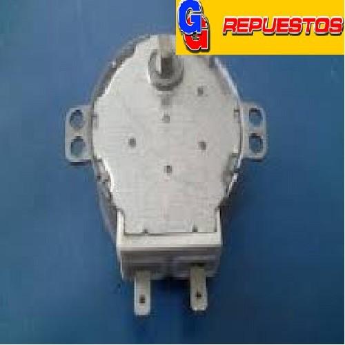 MOTOR GIRAPLATOS MICROONDAS 220V 5/6RPM GAL-5-240-TD  DIAMTRO DEL MOTOR 49 mm ALTO 21 mm EJE CORTO CHATO METAL ALTO 6.50 mm