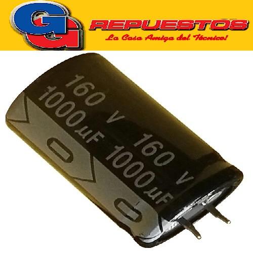 CAPACITOR ELECTROLITICO 100uFX160V PATAS CORTAS