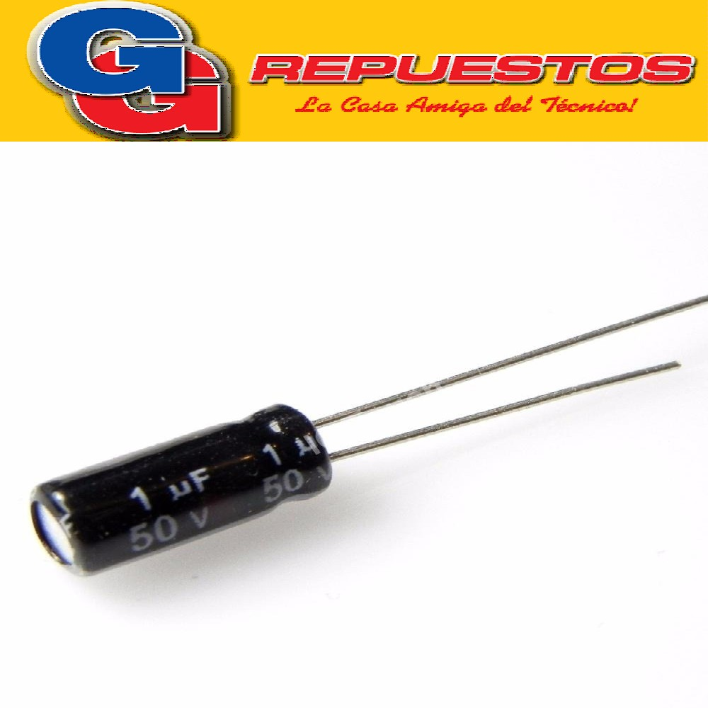 CAPACITOR ELECTROLITICO 1uFX50V MINI