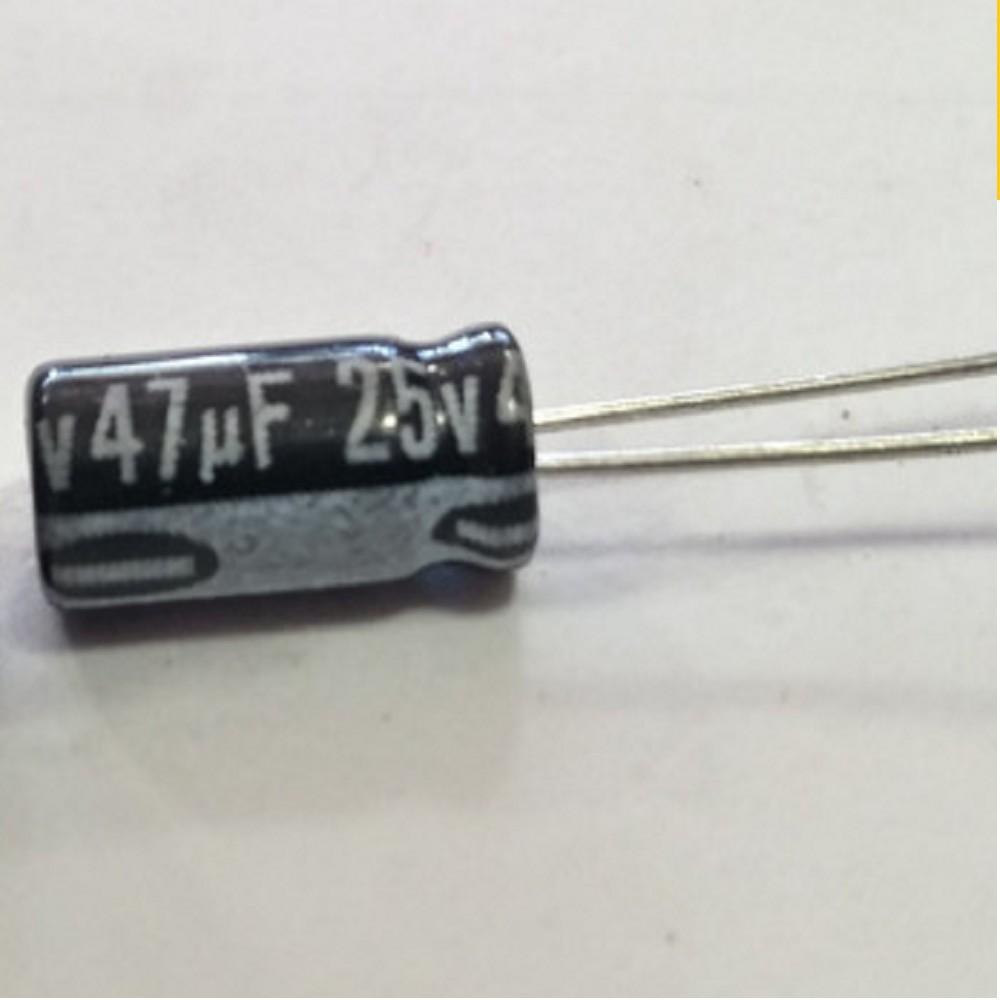 CAPACITOR ELECTROLITICO 4.7uFX25V MINI
