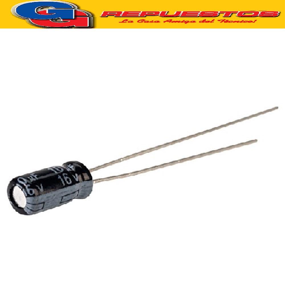 CAPACITOR ELECTROLITICO 10uFX16V PATA LARGA