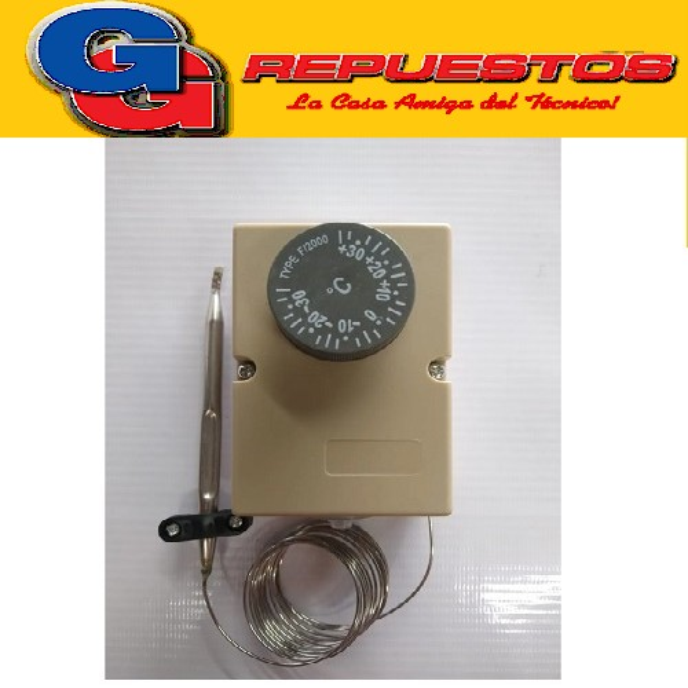 TERMOSTATO AMBIENTE COMERCIAL BlueStar-F2000(-35+35*C) CAPILAR 1,5 CAPILAR LARGO