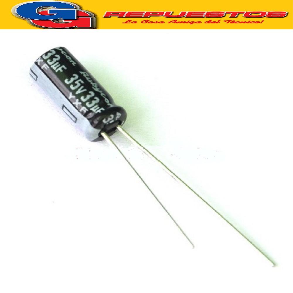CAPACITOR ELECTROLITICO 33uFX35V PATA LARGA